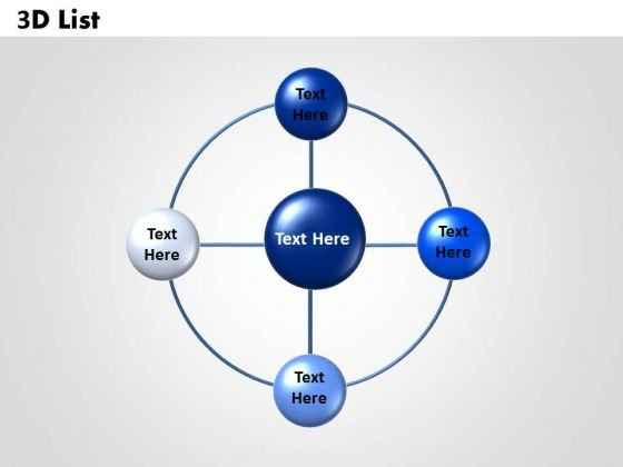 Business Diagram Circular 3d List Sales Diagram