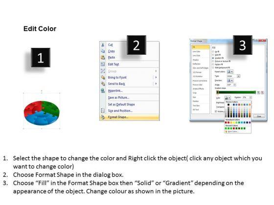 business_diagram_circular_jigsaw_puzzle_flowchart_templates_process_diagram_style_sales_diagram_3