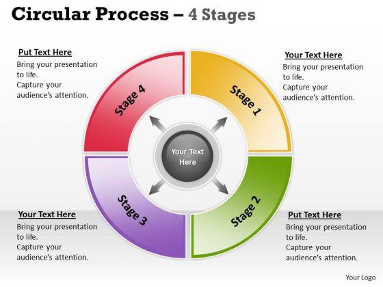 Business Diagram Circular Process 4 Stages Sales Diagram