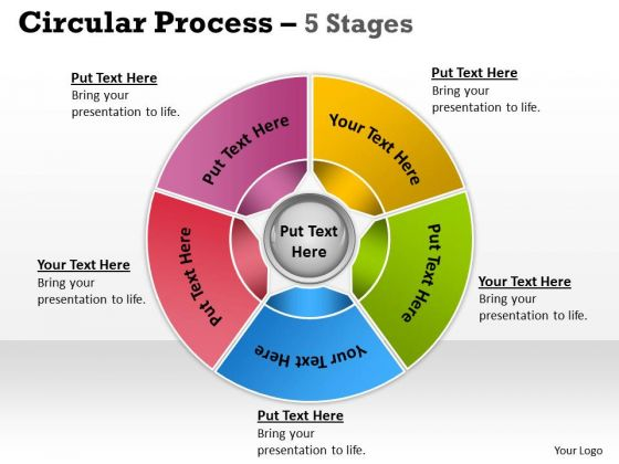 Business Diagram Circular Process 5 Stages Strategy Diagram