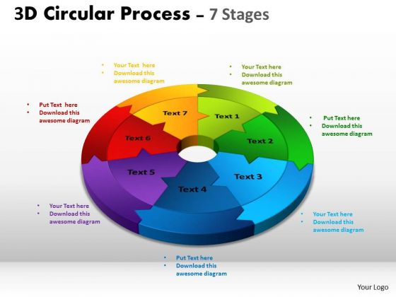 Business Diagram Circular Process Cycle Diagram Chart 7 Stages Sales Diagram