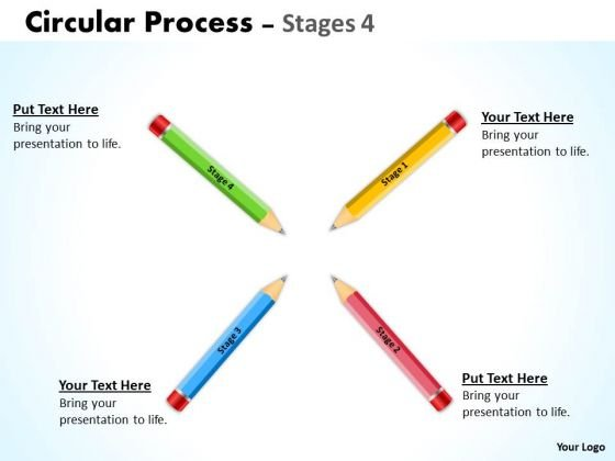 Business Diagram Circular Process Stages 4 Sales Diagram