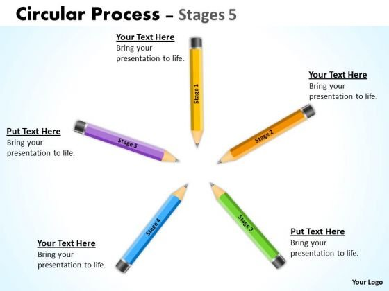 Business Diagram Circular Process Stages 5 Consulting Diagram