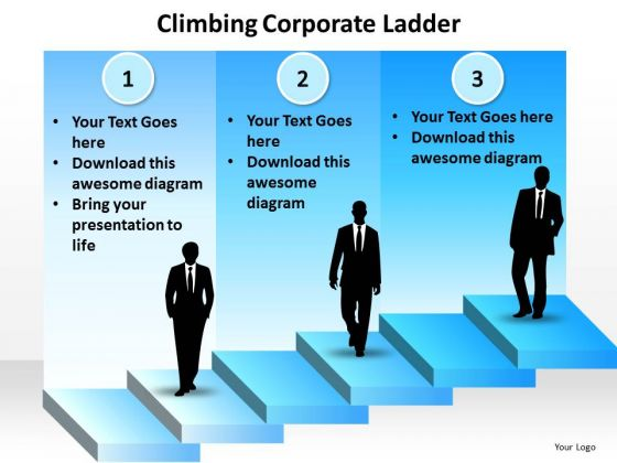 Business Diagram Climbing Corporate Ladder Mba Models And Frameworks