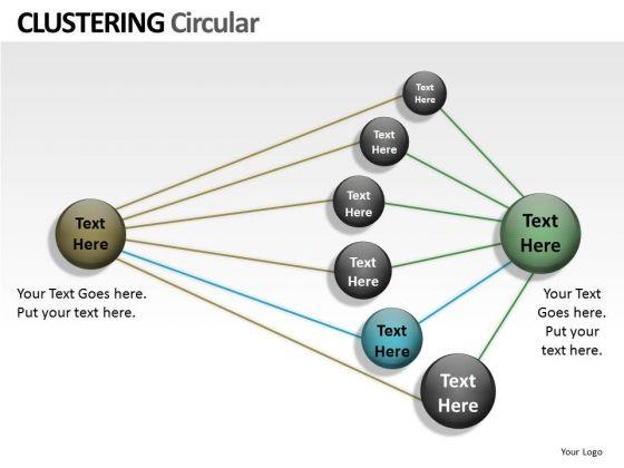 Business Diagram Clustering Circular Ppt Marketing Diagram