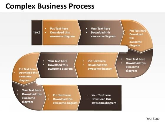 Business Diagram Complex Business Process Sales Diagram
