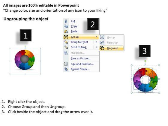 business_diagram_components_circular_puzzle_process_business_framework_model_2
