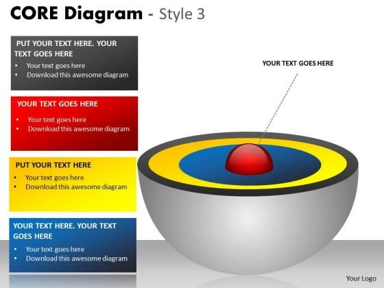 Business Diagram Core Diagram Colorful Style Marketing Diagram