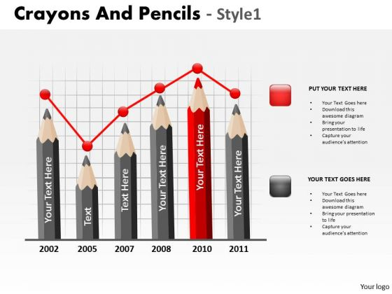 Business Diagram Crayons And Pencils Style 1 Consulting Diagram