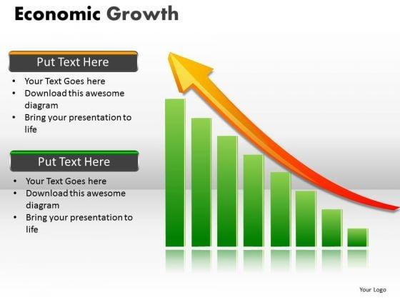 Business Diagram Economic Growth Sales Diagram