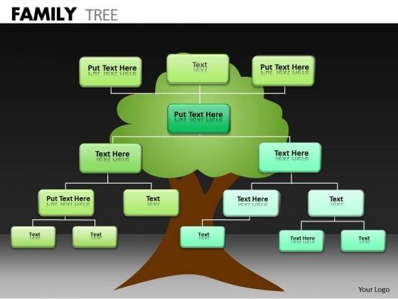 Business Diagram Family Tree Sales Diagram