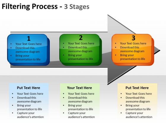 Business Diagram Filtering Process 3 Stages Marketing Diagram