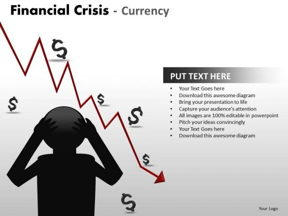 Business Diagram Financial Crisis Currency Business Finance Strategy Development