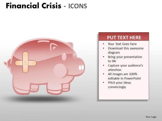 Business Diagram Financial Crisis Icons Marketing Diagram