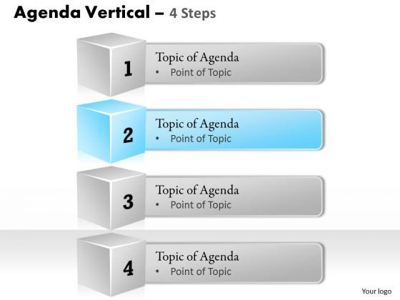 Business Diagram Four Staged Vertical Steps For Agenda Display Consulting Diagram