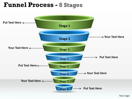 Business Diagram Funnel Process Diagram With 8 Stages Sales Diagram