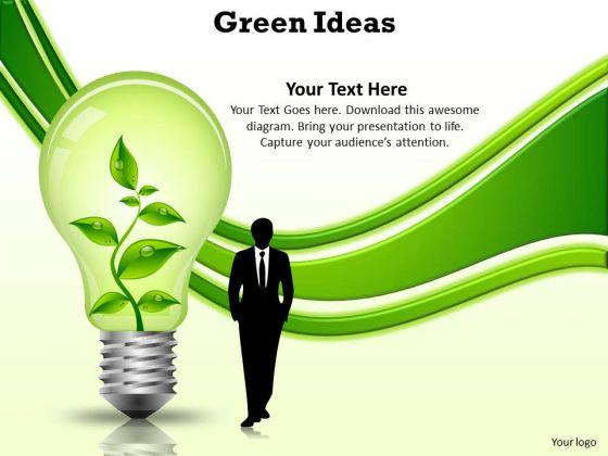 Business Diagram Green Ideas Business Finance Strategy Development