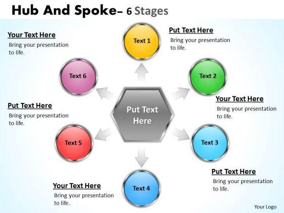 Business Diagram Hub And Spoke 6 Stages Mba Models And Frameworks