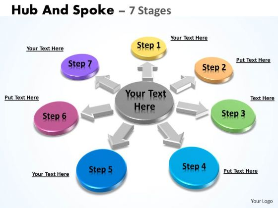 Business Diagram Hub And Spoke 7 Stages Marketing Diagram