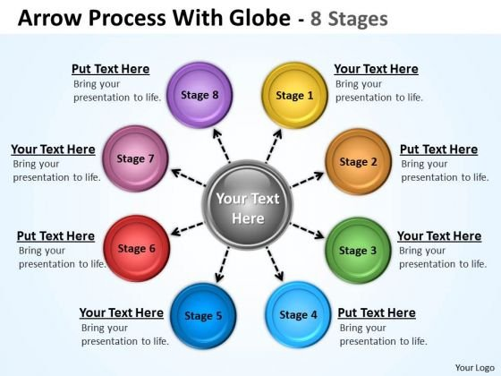 Business Diagram Hub And Spoke Process 8 Stages Sales Diagram