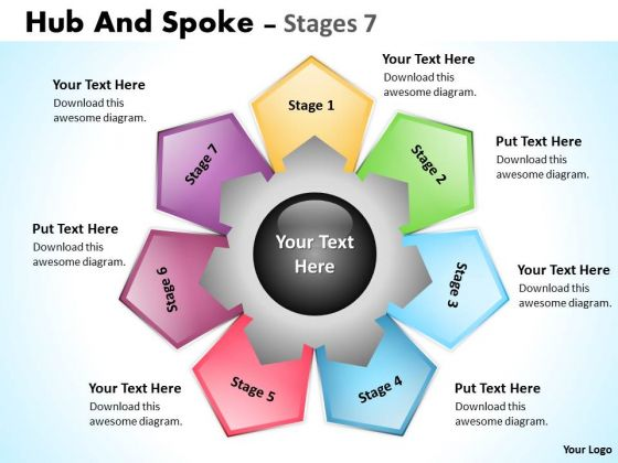 Business Diagram Hub And Spoke Stages Marketing Diagram