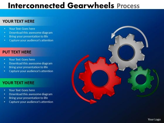 Business Diagram Interconnected Gearwheels Process Business Cycle Diagram