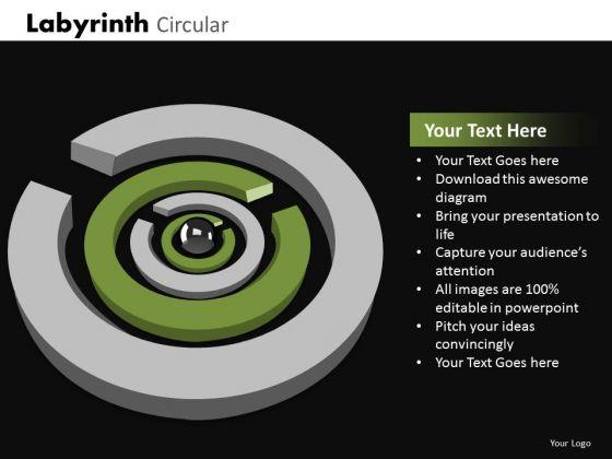 Business Diagram Labyrinth Circular Strategic Management