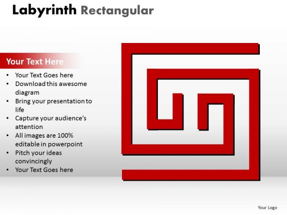 Business Diagram Labyrinth Rectangular Ppt Red Modal Marketing Diagram