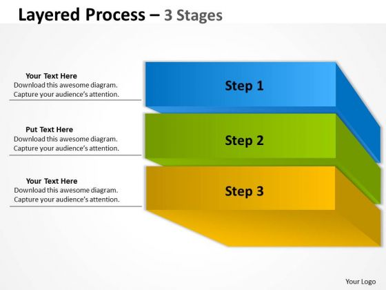 Business Diagram Layered Diagram Process 3 Stages Strategy Diagram