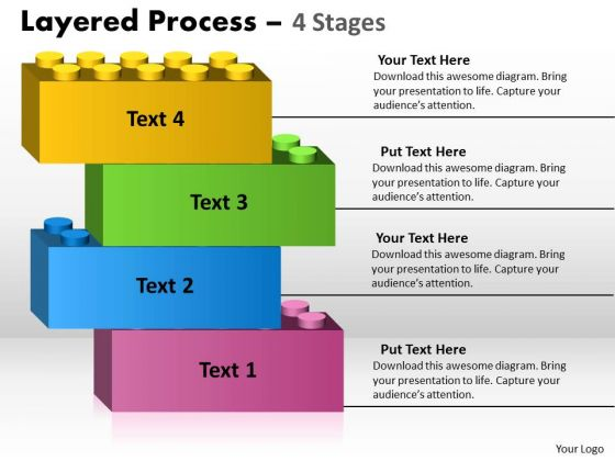 Business Diagram Layered Process 4 Stages Consulting Diagram