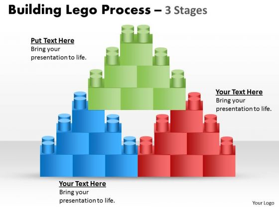 Business Diagram Lego Blocks Business Cycle Diagram