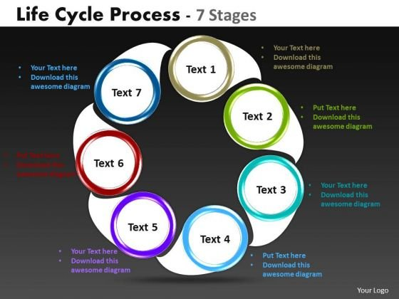Business Diagram Life Cycle Diagrams Process 7 Stages Strategy Diagram
