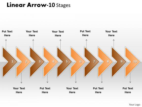 Business Diagram Linear Arrow 10 Stages Sales Diagram
