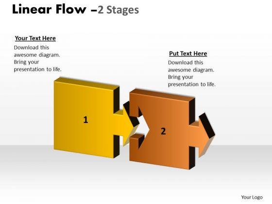 Business Diagram Linear Flow
