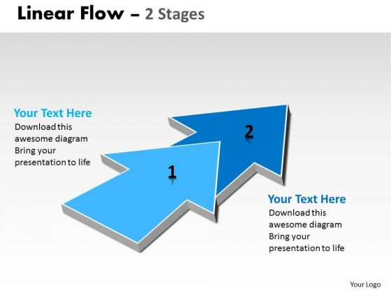Business Diagram Linear Flow 2 Stages