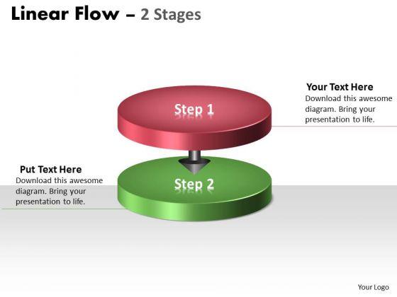 Business Diagram Linear Flow 2 Stages Marketing Diagram