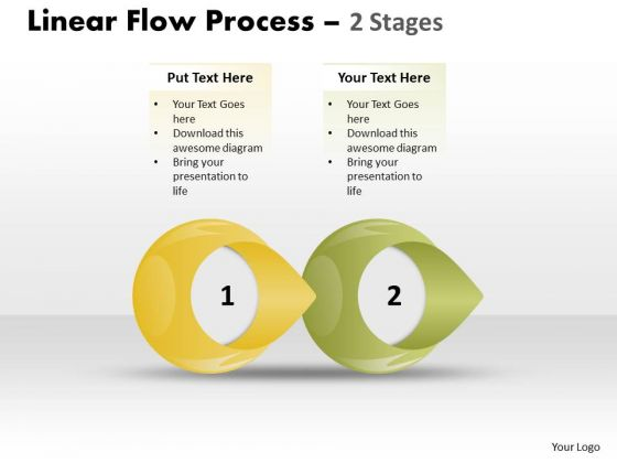 Business Diagram Linear Flow Process 2 Stages