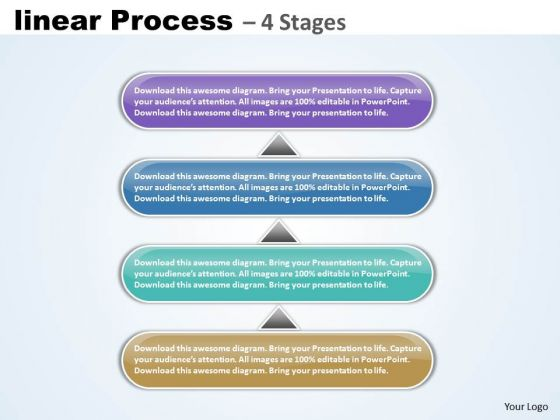 Business Diagram Linear Process 4 Steps Marketing Diagram