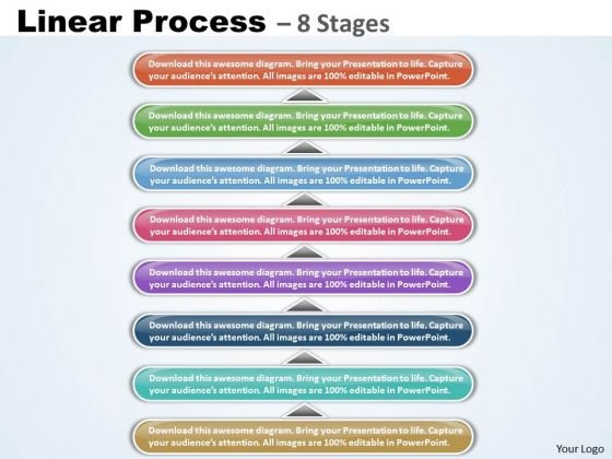 Business Diagram Linear Process 8 Stages Diagram Strategy Diagram