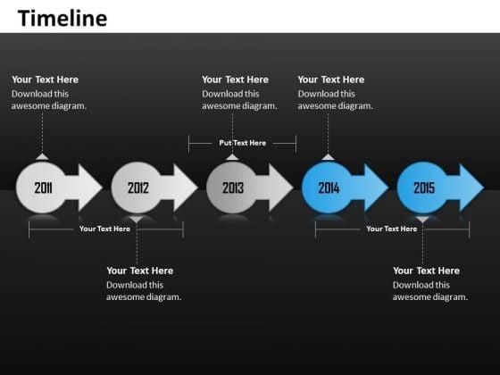Business Diagram Linear Unique Timeline Roadmap Diagram Sales Diagram