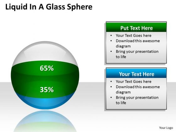 Business Diagram Liquid In A Glass Sphere Ppt Business Cycle Diagram