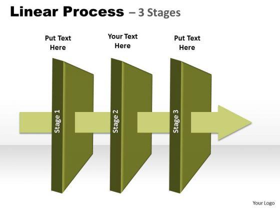 Business Diagram Management Linear Process 3 Stages Marketing Diagram