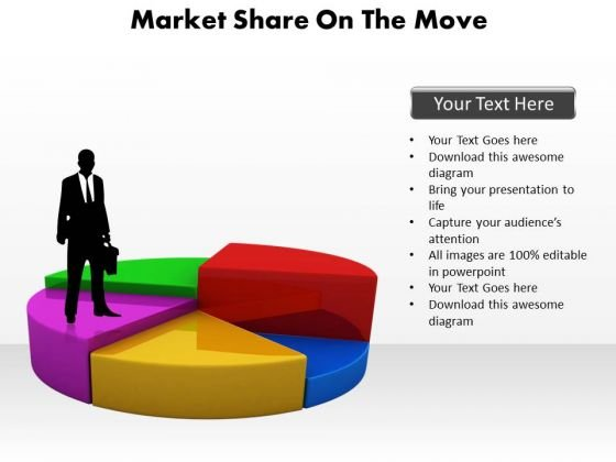 Business Diagram Market Share On The Move Strategic Management
