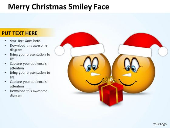 Business Diagram Merry Christmas Smiley Face Consulting Diagram
