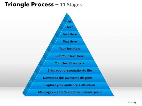 Business Diagram Multistaged Triangular Process Design Sales Diagram