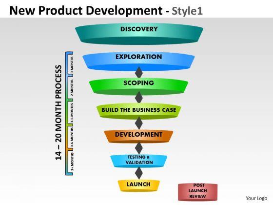 Business Diagram New Product Development Funnel Diagram Sales Diagram