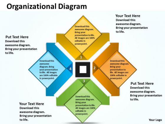 Business Diagram Organizational Diagram For Business Consulting Diagram