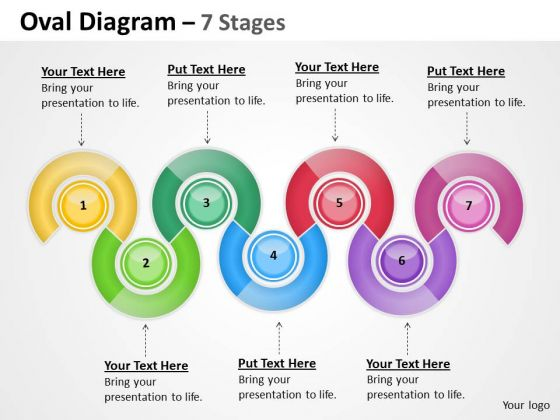 Business Diagram Oval Diagram 7 Stages Sales Diagram