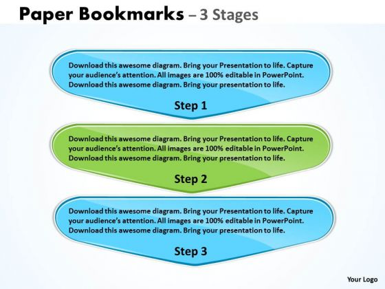 Business Diagram Paper Bookmarks 3 Stages Consulting Diagram