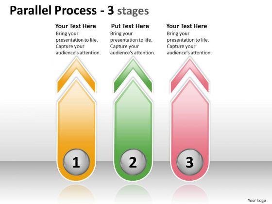 Business Diagram Parallel Process 3 Stages Sales Diagram